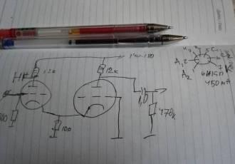 Ламповый MC-пред-предусилитель неинвертирующий, вариации с общей сеткой